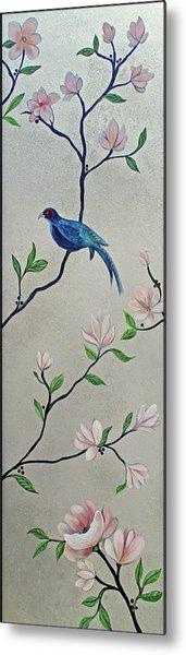 Chinoiserie - Magnolias And Birds #4 Metal Print