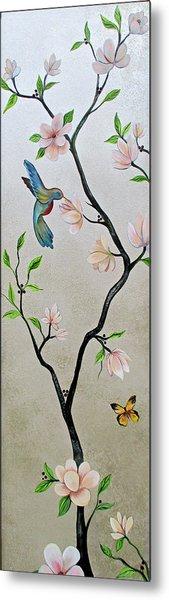 Chinoiserie - Magnolias And Birds #5 Metal Print