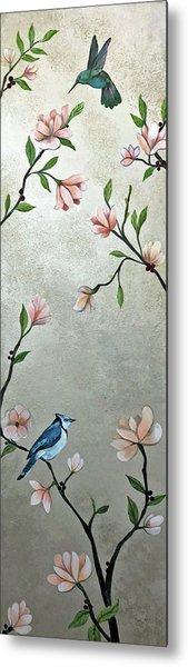 Chinoiserie - Magnolias And Birds Metal Print