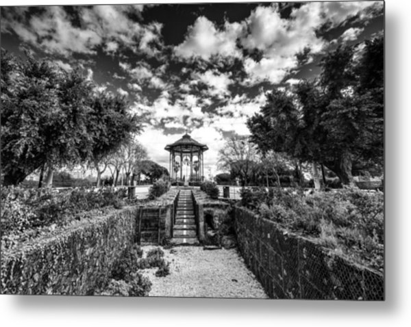 Metal Print featuring the photograph Chiosco Della Musica Di Villa Bellini - Catania by Mirko Chessari