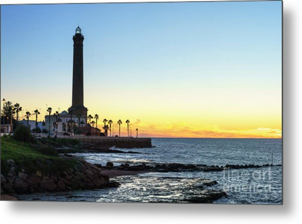 Chipiona Lighthouse Cadiz Spain Metal Print