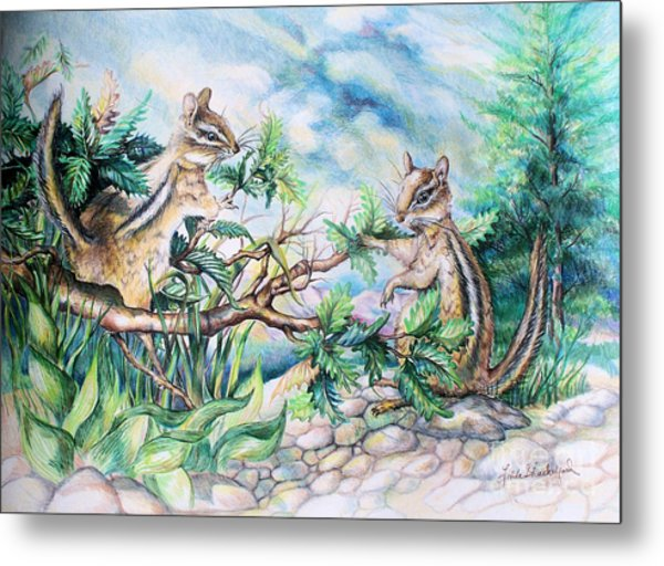 Chipmunks Metal Print
