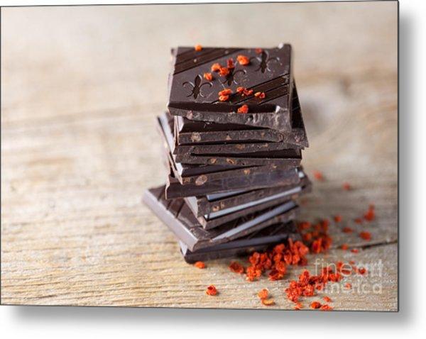Chocolate And Chili Metal Print