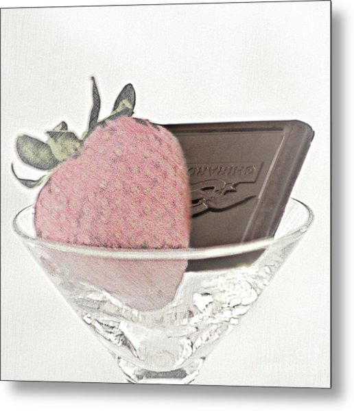 Chocolate And Strawberry Martini Metal Print