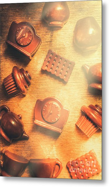 Chocolate Cafe Background Metal Print
