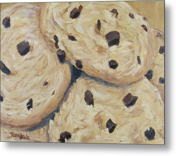 Metal Print featuring the painting Chocolate Chip Cookies by Nancy Nale