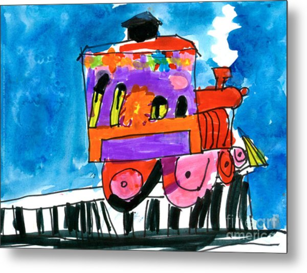 Choochoo Train Metal Print
