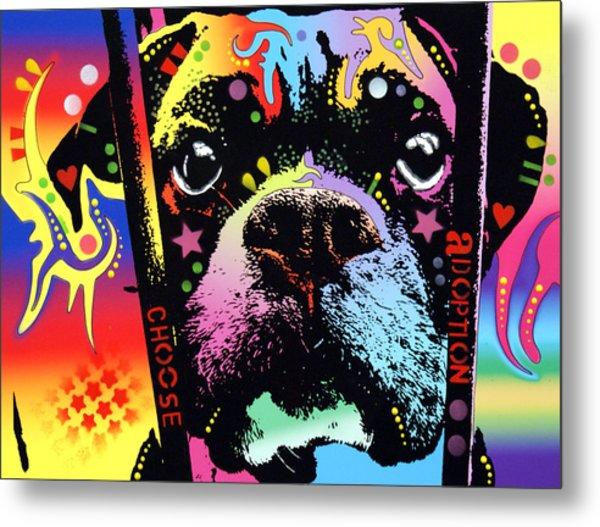 Choose Adoption Boxer Metal Print