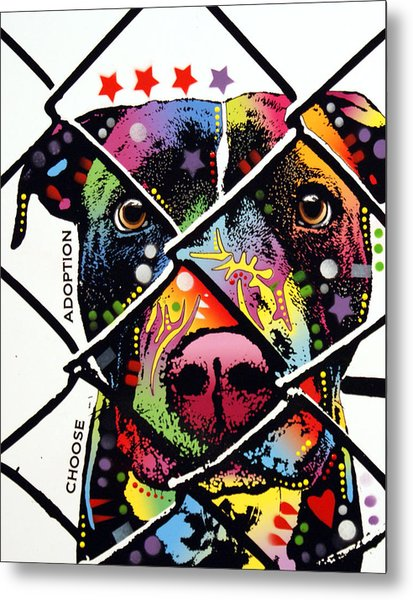 Choose Adoption Pit Bull Metal Print