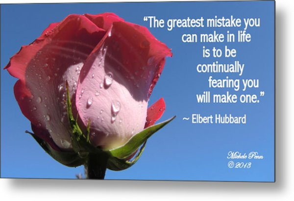 Choose Your Quote Choose Your Picture 24 Metal Print