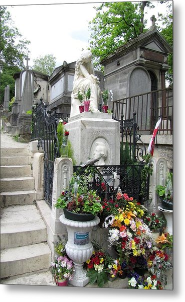 Chopin Grave Paris Metal Print