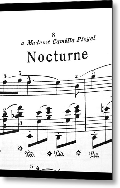Chopin Nocturne Part 2 Metal Print