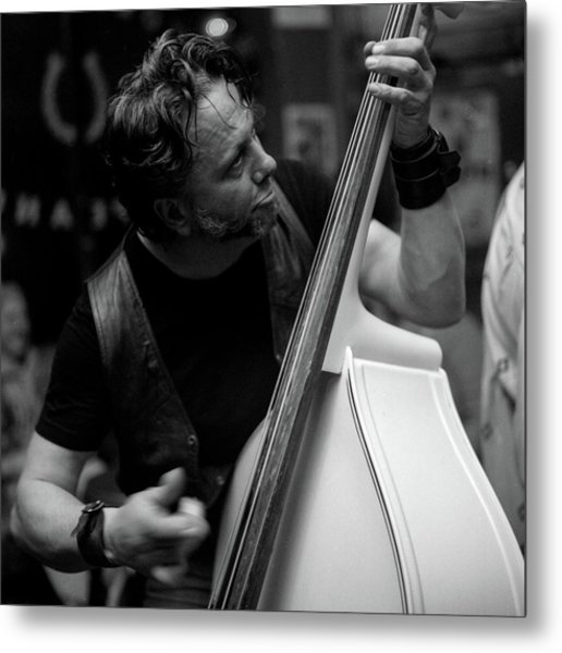 Chops On Bass Metal Print by Chad Schaefer