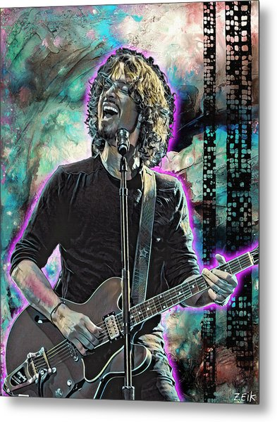 Chris Cornell - Outshined Metal Print