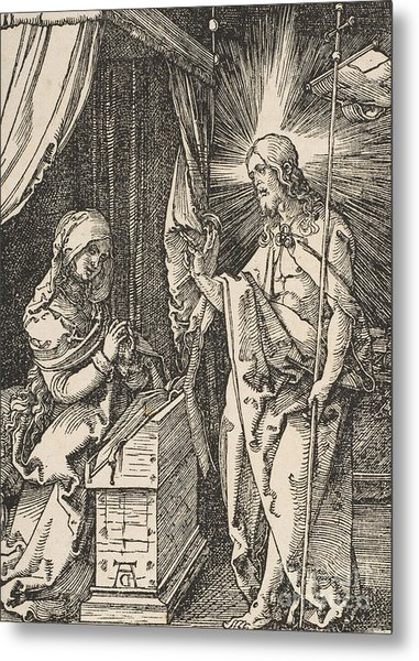 Christ Appearing To His Mother, From The Small Passion Metal Print