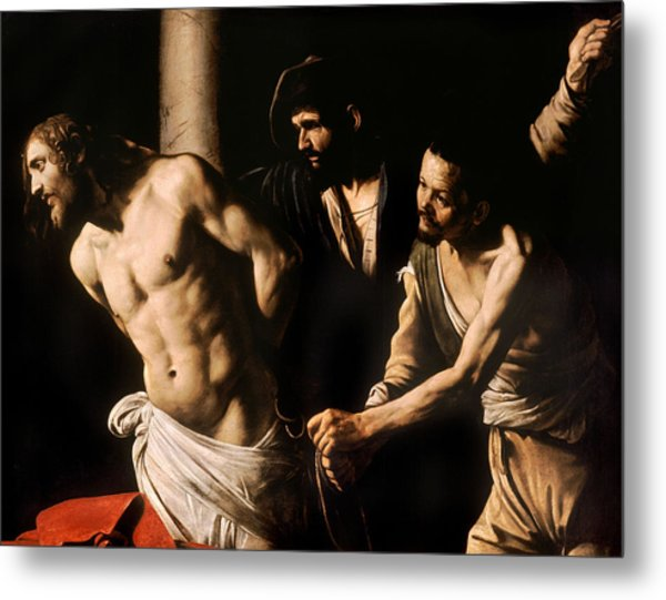 Christ At The Column Metal Print