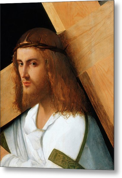 6f5915d1b3b Christ Carrying The Cross Metal Print by Giovanni Bellini