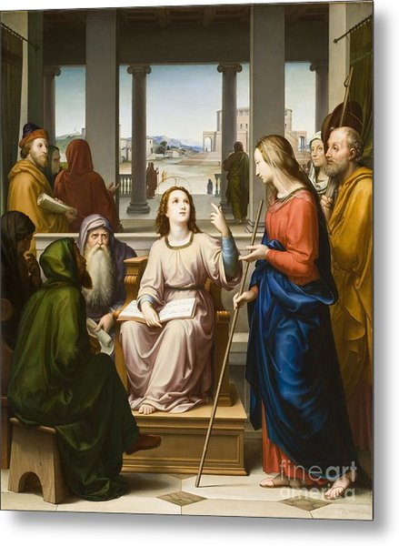Christ Disputing With The Doctors In The Temple Metal Print