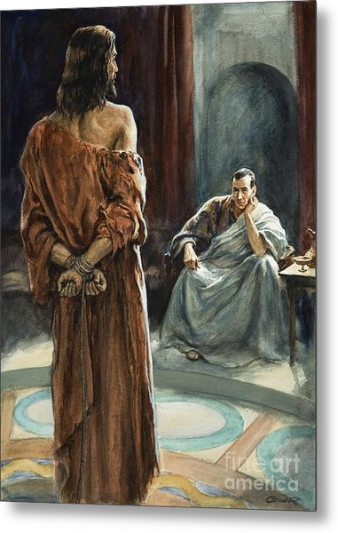 Christ In Front Of Pontius Pilate Metal Print
