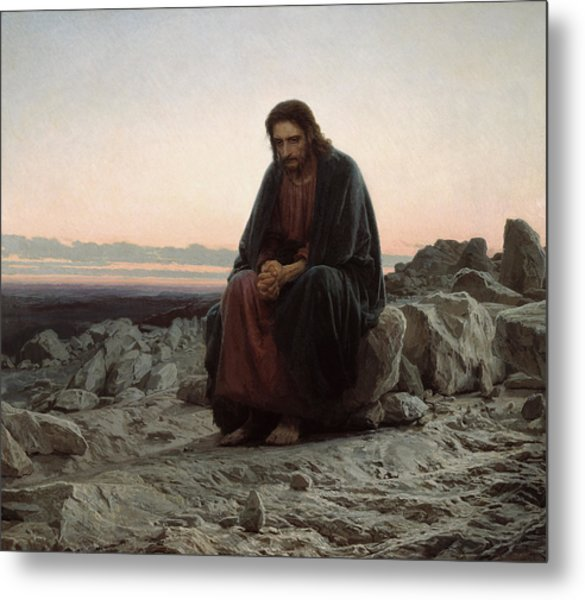 Christ In The Desert Metal Print