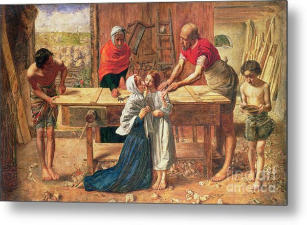 Christ In The House Of His Parents Metal Print