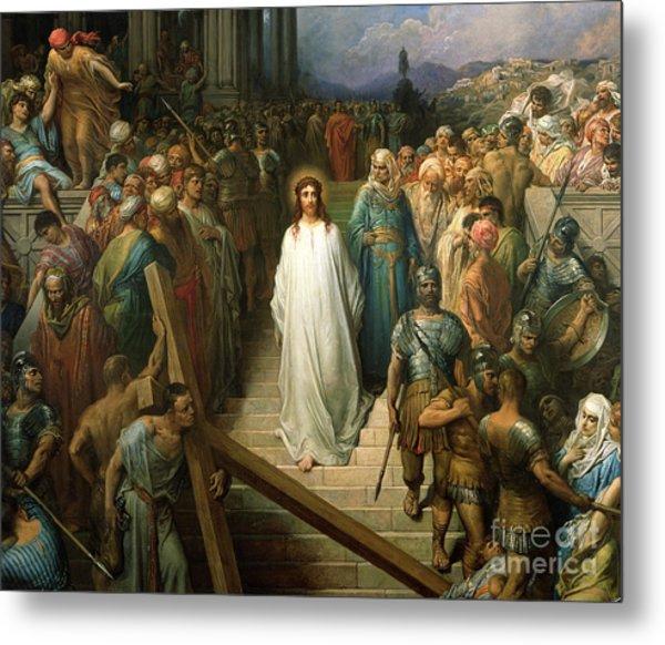 Christ Leaves His Trial Metal Print
