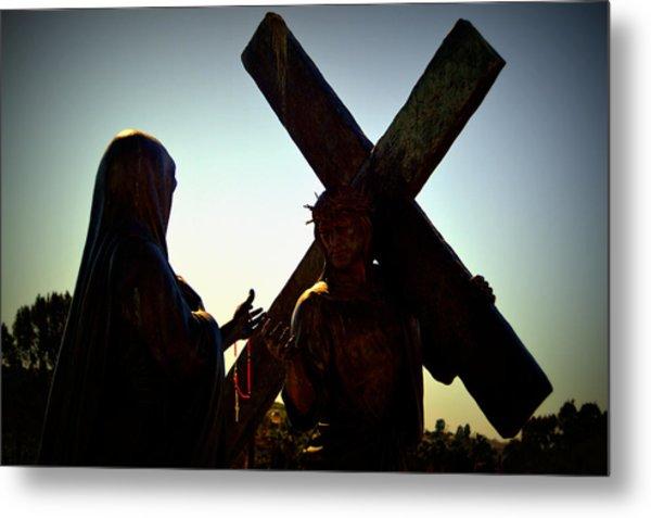 Christ Meets His Mother Metal Print