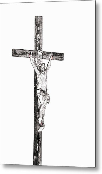Christ On Cross Metal Print