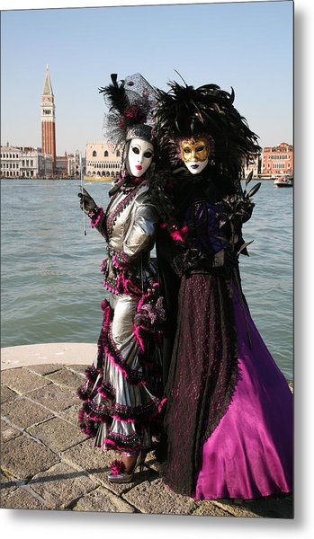 Christine And Gunilla Across St. Mark's  Metal Print