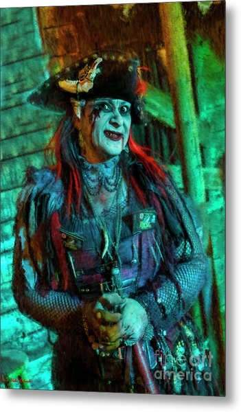 Christine Campiotti And Hunted House Metal Print