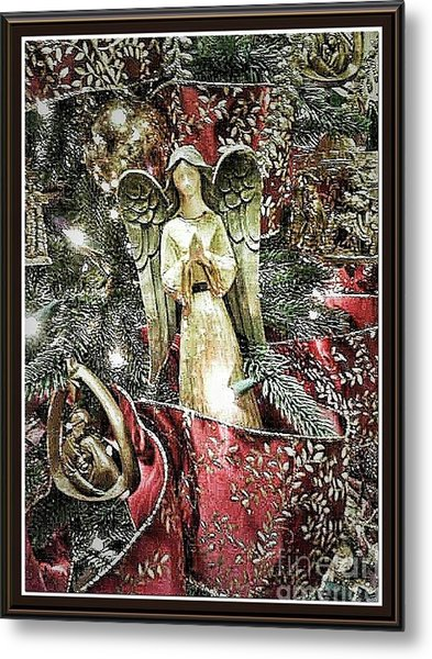 Christmas Angel Greeting Metal Print