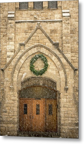 Christmas At Stone Chapel Metal Print