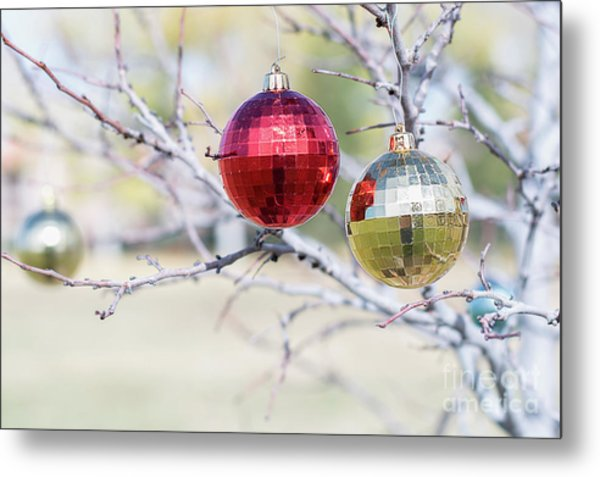 Christmas At The Park Metal Print