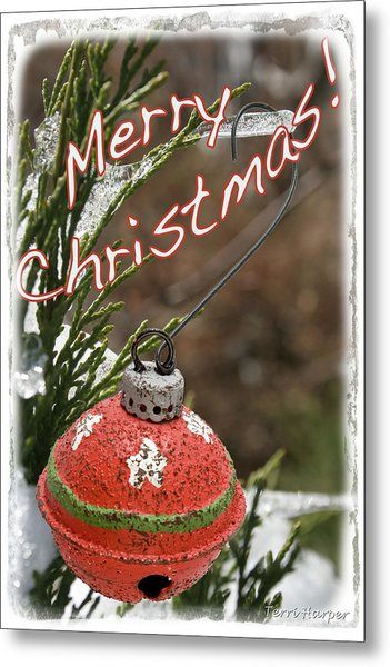 Christmas Bell Ornament Metal Print