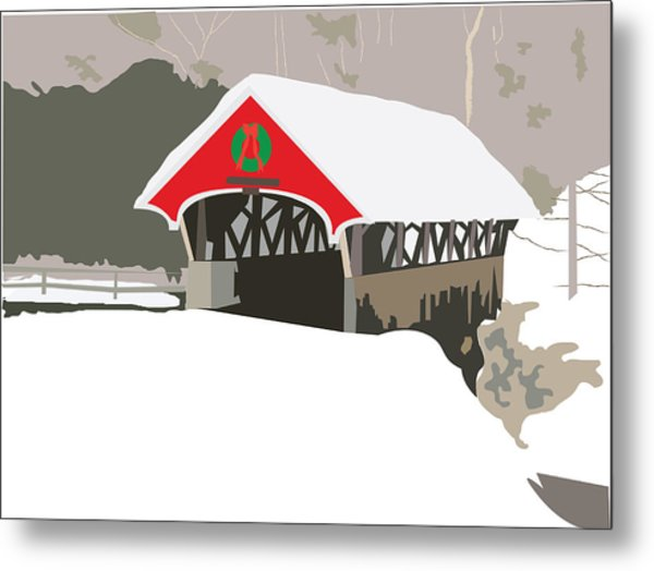 Christmas Bridge Metal Print by Marian Federspiel