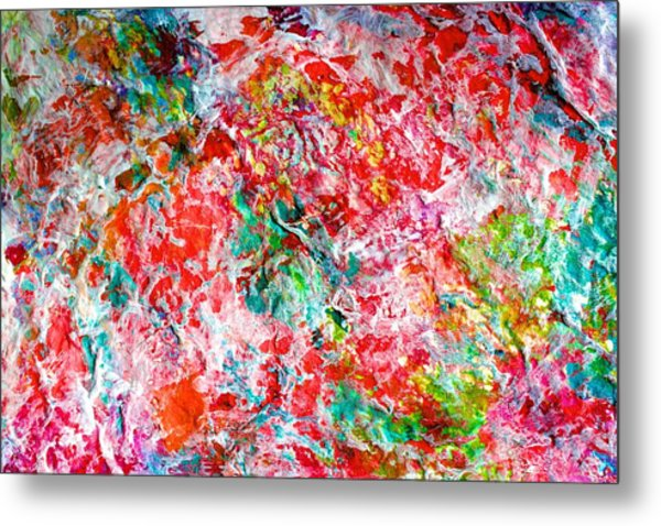 Christmas Candy Color Poem Metal Print