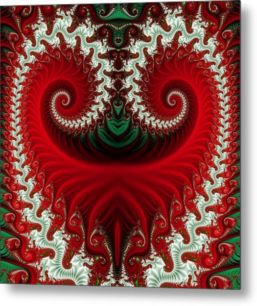 Christmas Swirls Metal Print