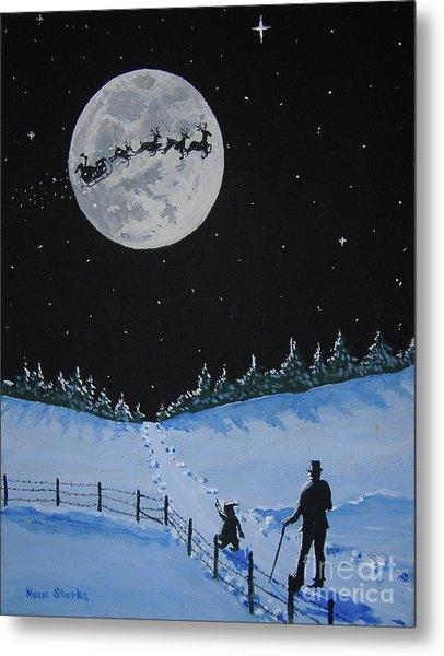Christmas Eve Stroll Metal Print