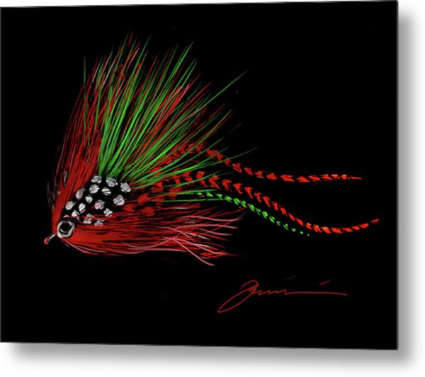 Christmas Fly Metal Print