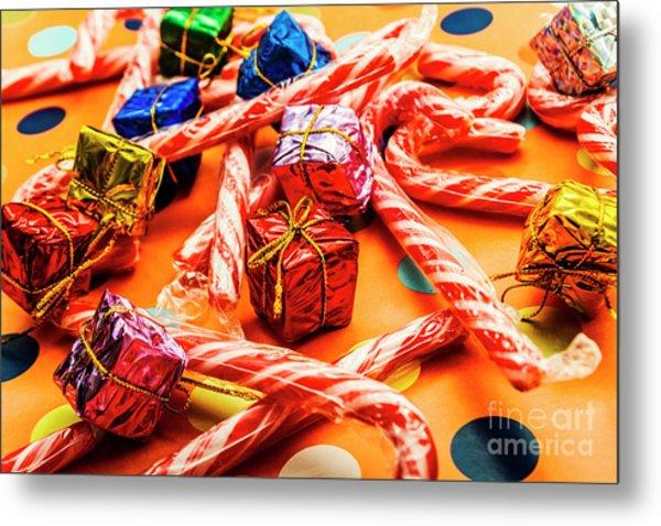 Christmas Holiday Background Metal Print