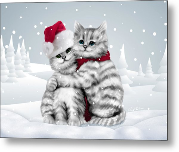 Christmas Hug Metal Print