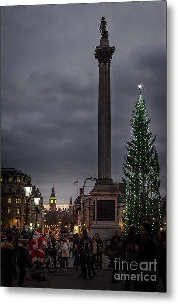 Christmas In Trafalgar Square, London Metal Print