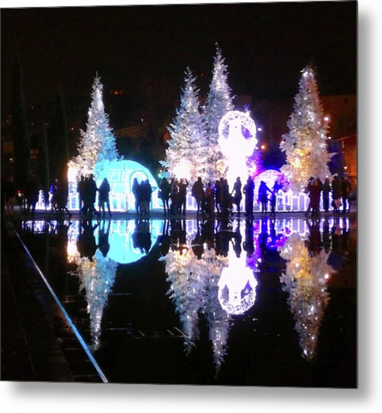 Christmas In Nizza, Southern France Metal Print