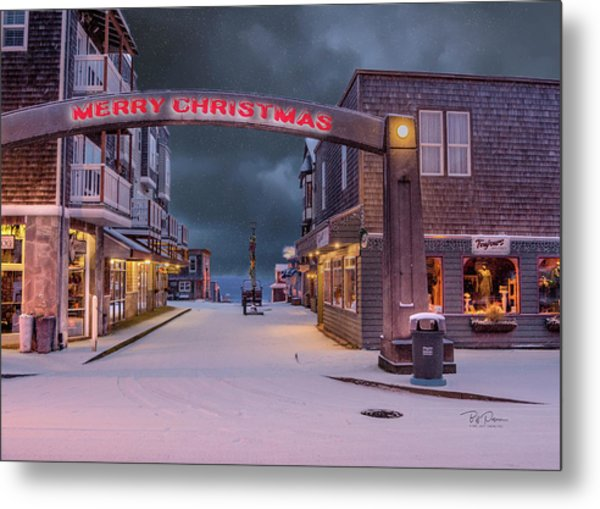 Christmas In Nye Beach Metal Print