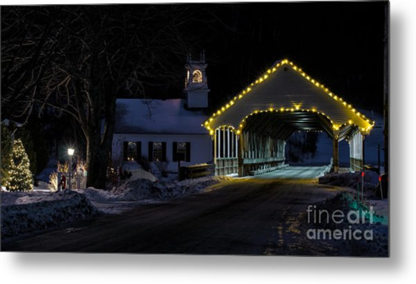 Christmas In Stark New Hampshire Metal Print