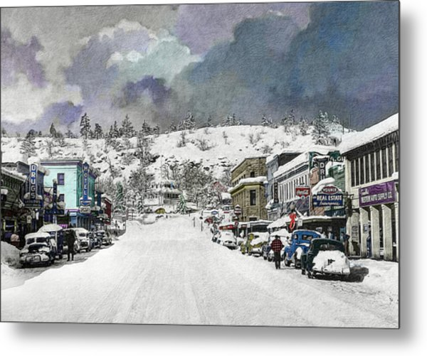 Christmas In Susanville, 1953 Metal Print