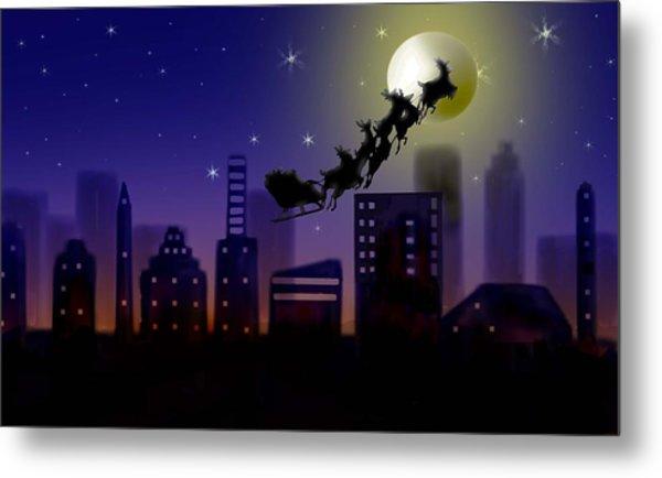 Christmas Landscape IIi Metal Print