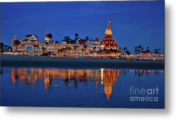 Christmas Lights At The Hotel Del Coronado Metal Print