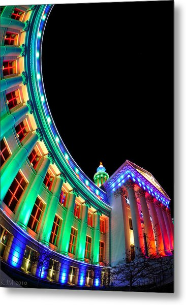 Christmas Lights Of Denver Civic Center Park Metal Print