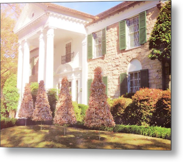 Christmas Morning At Graceland Metal Print by JAMART Photography